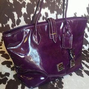 Dooney & Bourke Plum Purple Patent Leather Tote